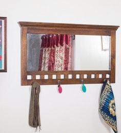 Provincial Teak Mango Wood Framed Mirror