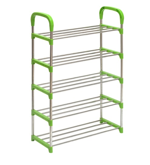 68863533b77 Buy Proxima Five Layer Iron Shoe Rack in Green Colour By Nilkamal ...