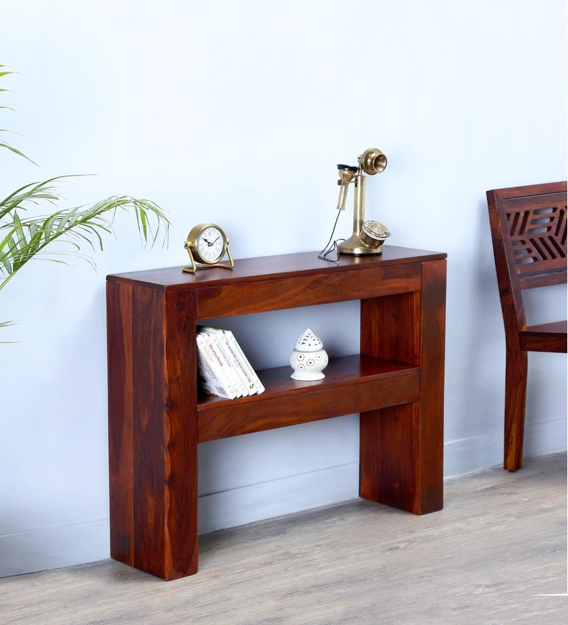 Presque Console Table in Honey Oak Finish by Woodsworth
