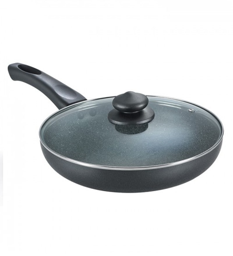 Hard Anodized Non Stick Frying Pan with Lid by Prestige