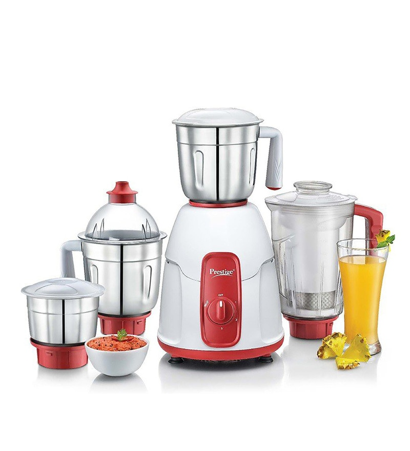 Prestige Red Elegant 750 Watt Mixer Grinder with 4 Jars