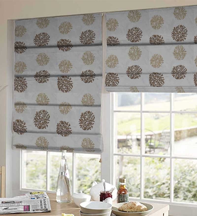 Grey Polyester Window Blind by Presto