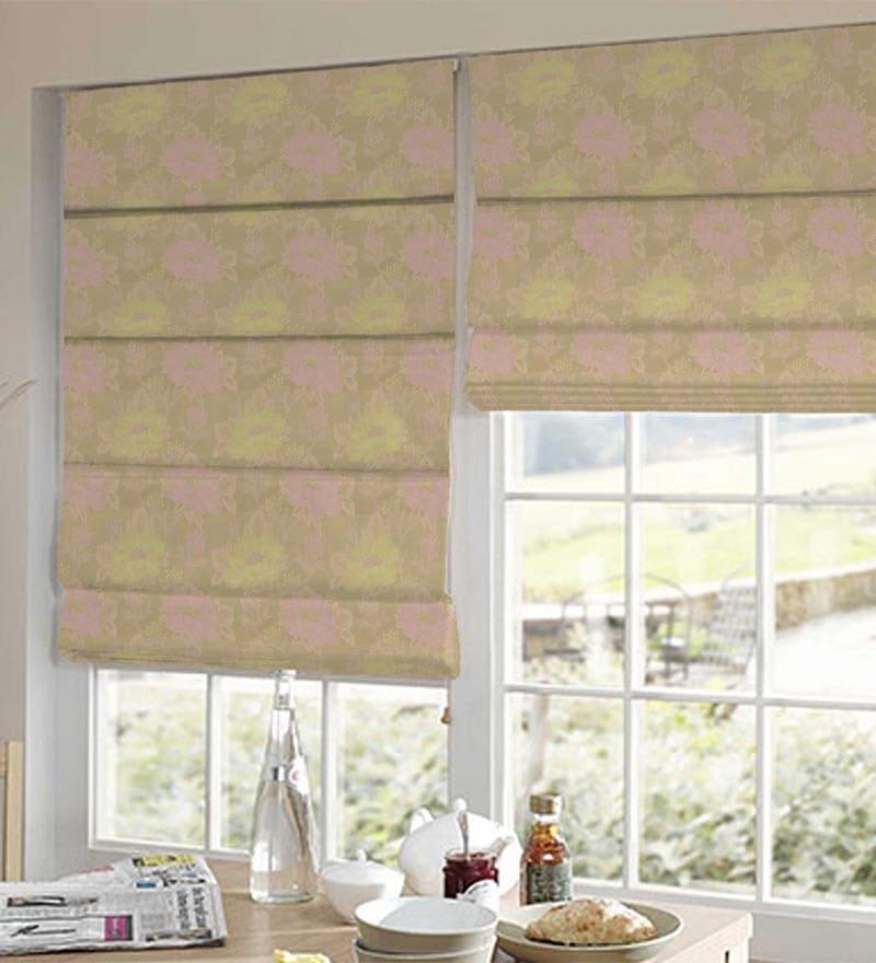 Pink Polyester Elegant Window Blind by Presto