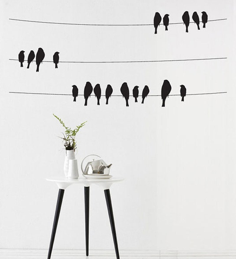 PVC Wall Stickers Beautiful Black Birds by Print Mantras