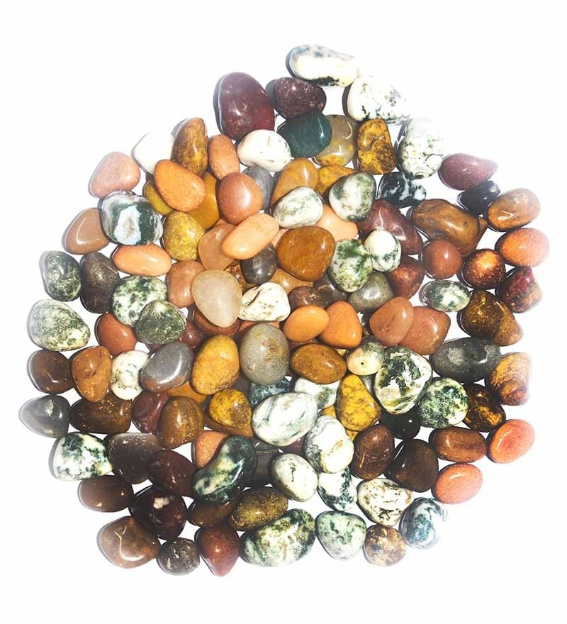 Multicolour Stones Mini Mix Pebbles - 0.5 Kg by Prisha