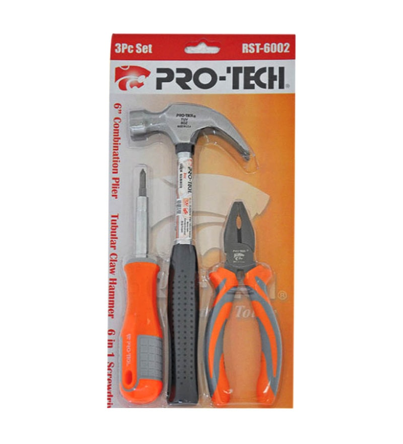 Pro-Tech Steel Combination Plier, 6 in 1 Screwdriver & Hammer Combo