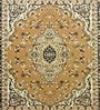 Gold Polyester Traditional Area Rug by Presto