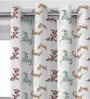 Green Feather Leaf Print Window Curtain - Set of 2 by Presto