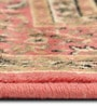 Orange Viscose Rectangular Ethnic Area Rug by Presto