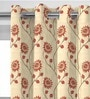 Presto Red Sun Flowers Window Curtain - Set of 2