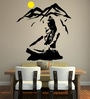 Beautiful God Shiva on Kailash PVC Wall Sticker by Print Mantras