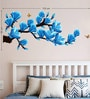 PVC Wall Stickers Beautiful Artistic Flowers Branches and Butterflies 3D look by Print Mantras