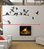 Pvc Wall Stickers Black Tree Branches and Birds by Print Mantras