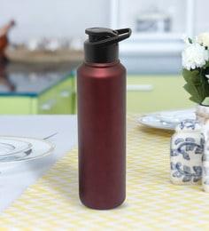 Purplewood Stainless Steel Wine Sports Sipper Bottle, 1000 ML