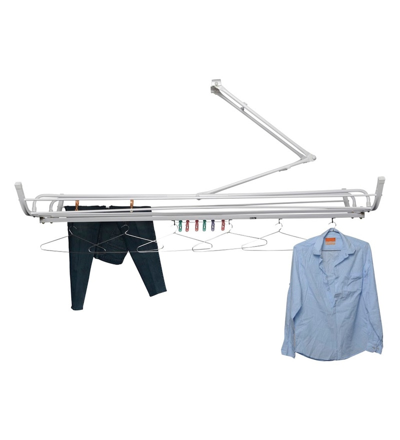 Pull N Dry Aluminium Pulley 6 Lines 6 Ft With Arm Clothes Dryer
