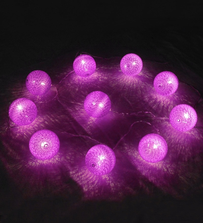 Purple PVC String Lights by Stybuzz
