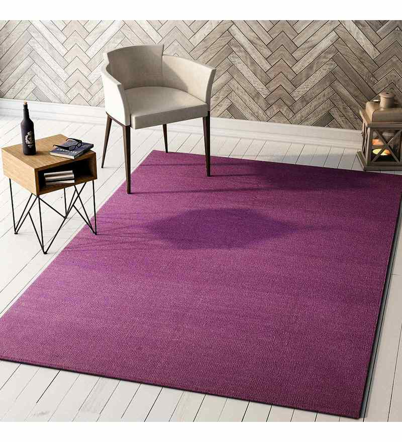 Purple Wool 72 x 48 Inch Carpet by Imperial Knots