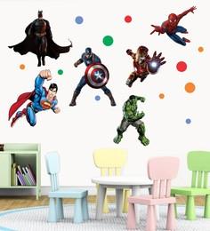 22c55aaaf 339 Options in kids wall stickers. PVC Vinyl 51 x 47 Inch Super Heroes Wall  Sticker
