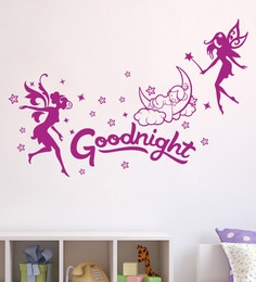 PVC Vinyl Decor Kafe Night Angels Wall Sticker Wall Sticker