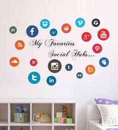 PVC Vinyl Social Hubs Wall Sticker