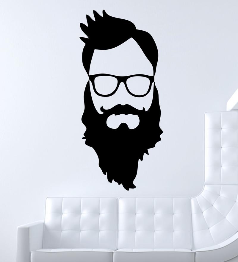 PVC Vinyl Beard Boy Wall Sticker by Decor Kafe