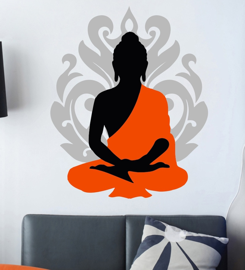 5ad576a708 ... Wall Stickers Silhouette Buddha Text: Buy Hoopoe Decor Lord Ganesha In Lord  Krishna's Pose Vinyl