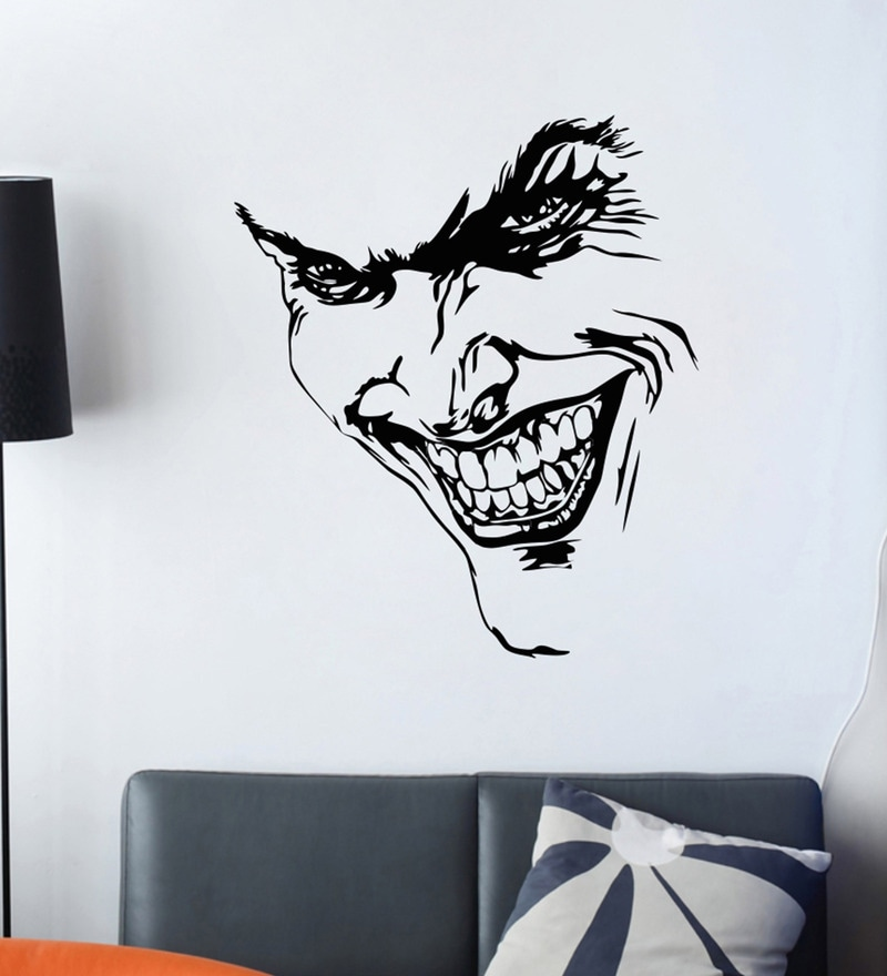 PVC Vinyl Devil Face Wall Sticker by Decor Kafe