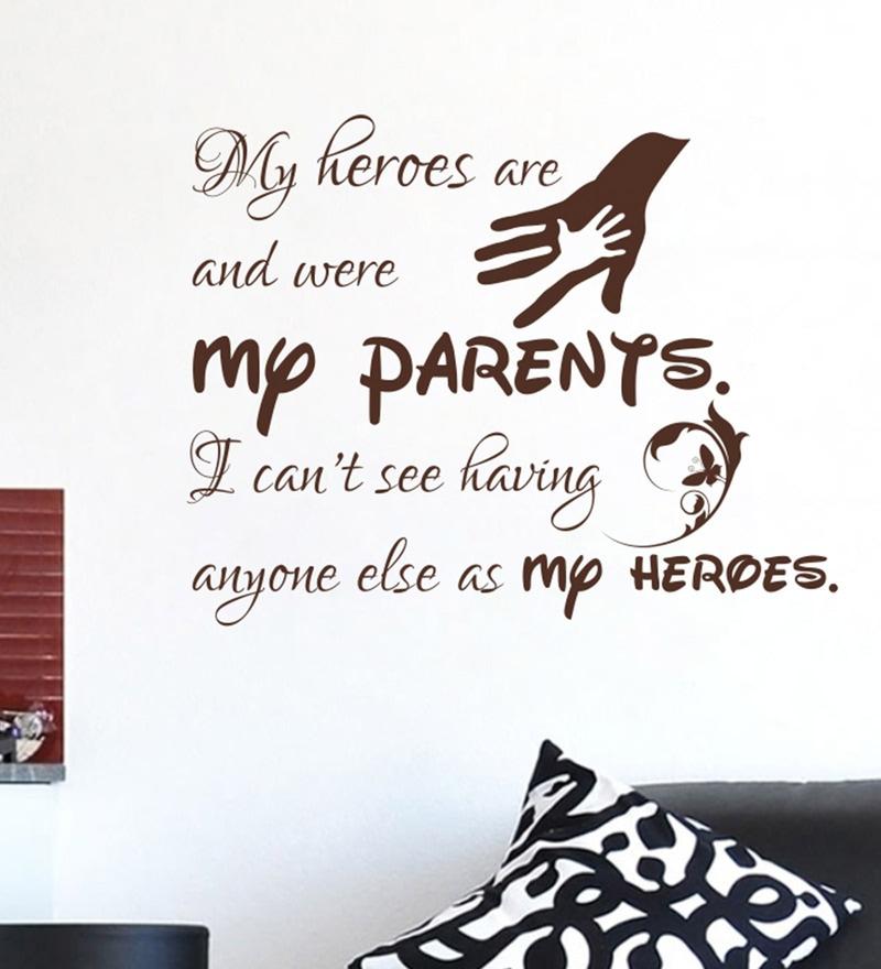 PVC Vinyl Parents Wall Sticker by Decor Kafe
