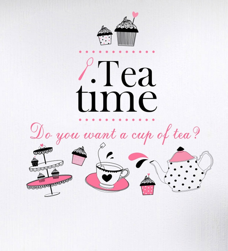 PVC Vinyl Tea Time Wall Sticker by Decor Kafe