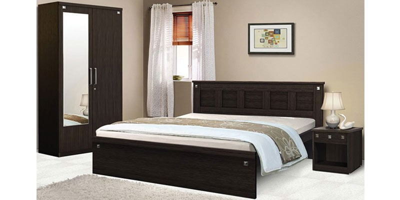 Buy Pyramid Bedroom Combo Set Queen Size Bed Without Storage
