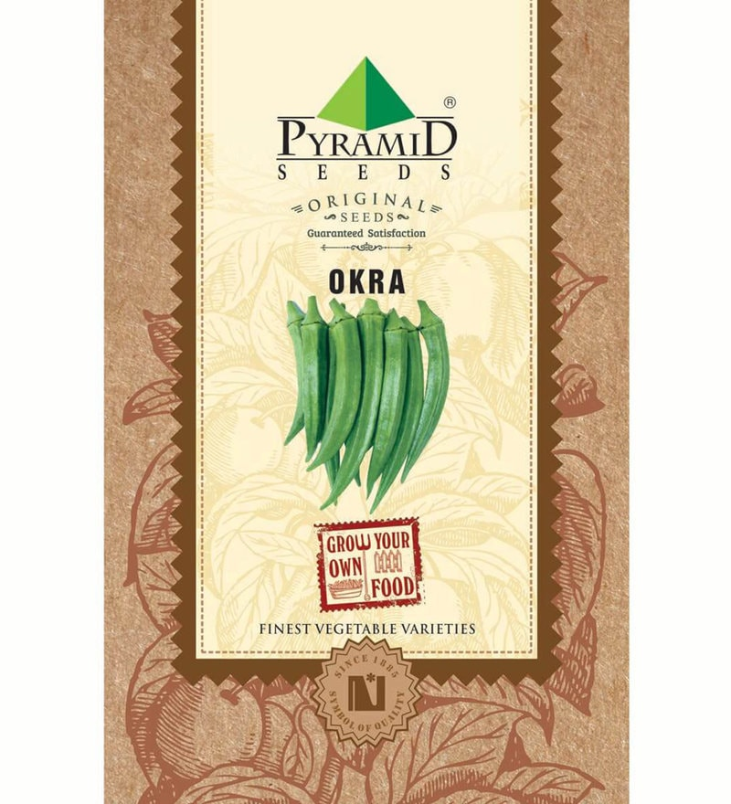 Okra (Ladies Finger) Seeds by Pyramid Seeds