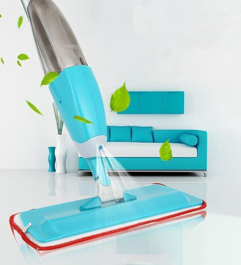 Quick & Easy 360 Degree Iglide Instant Spray Mop with 2 Microfibre Mop Head  by Paffy