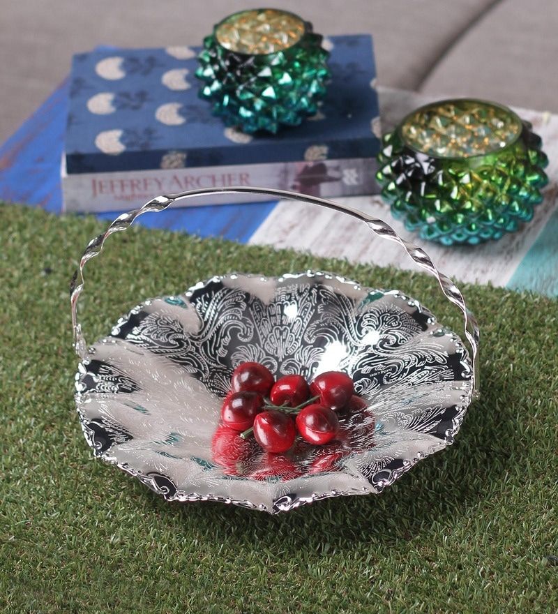 Queen Anne Silver Cake Plate