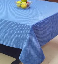 R Home Blue Polka Dot Printed Table Cover - 1655405