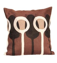 R Home Multicolour Cotton 18 X 18 Inch Embroidery Cushion Cover