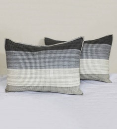 R Home Multicolour Cotton 20 X 27 Inch Quilted Pillow Cover Set (2 Pc) Pillow Covers - Set Of 2