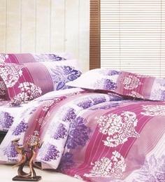 R Home Multicolour Cotton Blend Queen Size Bed Sheet - Set Of 3 - 1615773