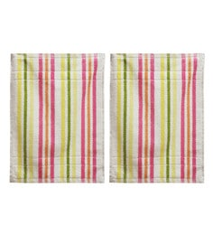 R Home Multicolour Terry Cotton 21 X 14 Inch Hand Towel - Set Of 2
