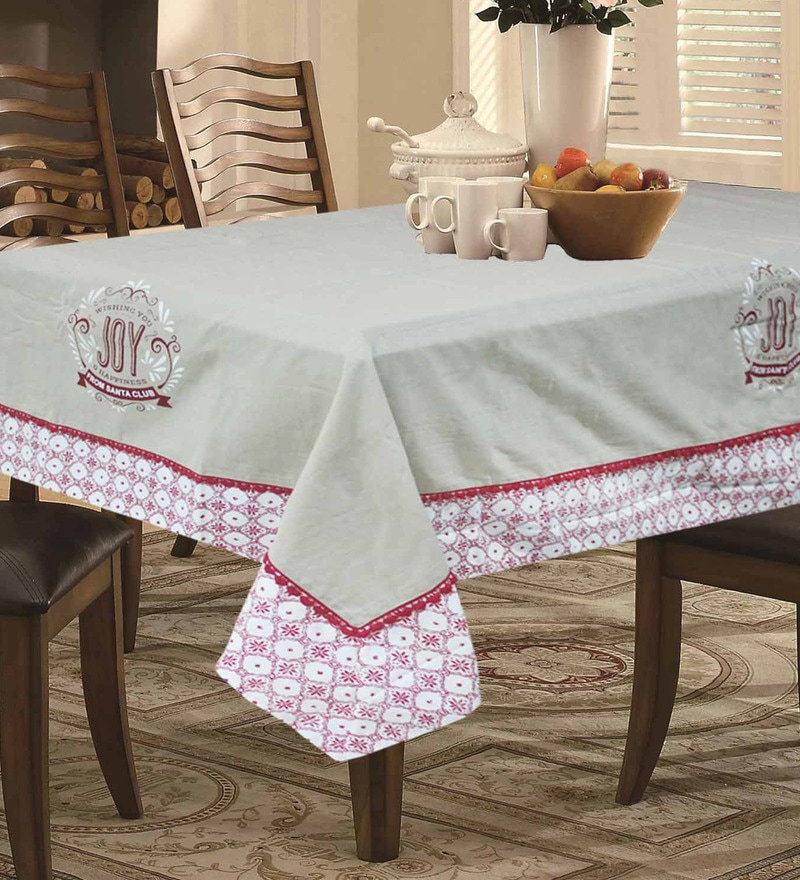 R Home Beige Cotton Table Linen