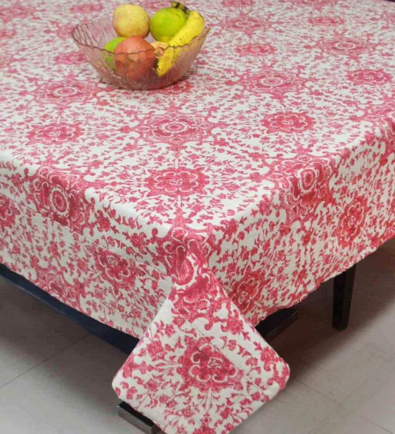f5f7504c6 Buy Lushomes Spiral Printed Centre Table Cloth Online - Abstract ...