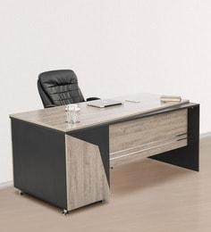 Radius Office Desk In Red Finish ...