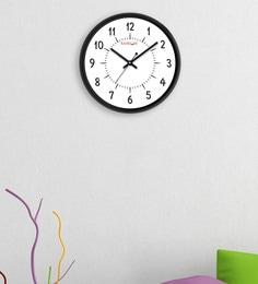 Random Black Plastic 12 X 2 X 12 Inch Sober Wall Clock