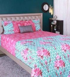 Raymond Home Magenta 100% Cotton King Size Bedsheet - Set Of 3