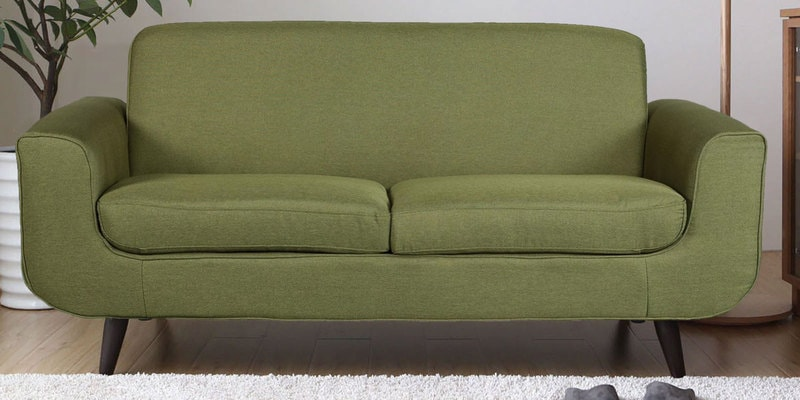 Rafael Two Seater Sofa in Green Colour by CasaCraft