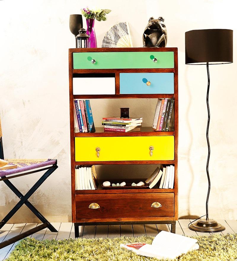 Kelis Book Shelf in Multi-Color Finish by Bohemiana