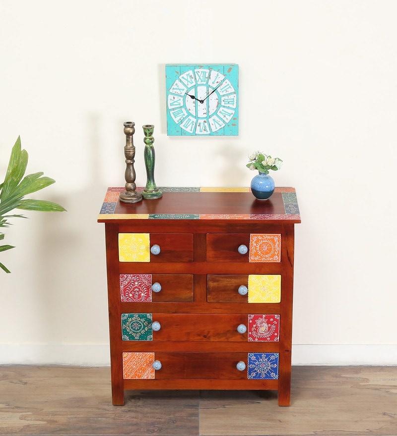 Raga Hand Painted Chest of Six Drawers by Mudramark