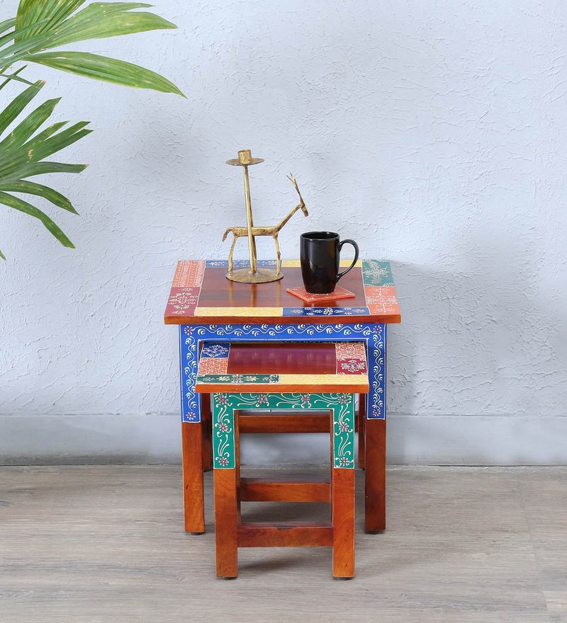 Raga Hand Painted Set of Tables by Mudramark