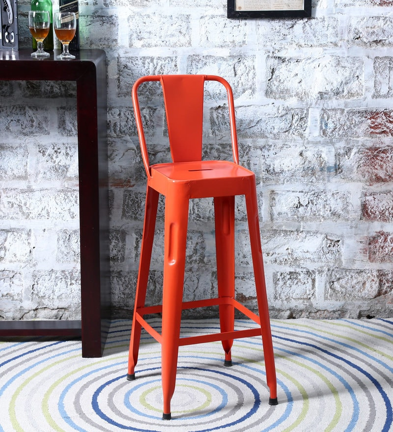 Raglan Bar Chair in Orange Colour by Bohemiana