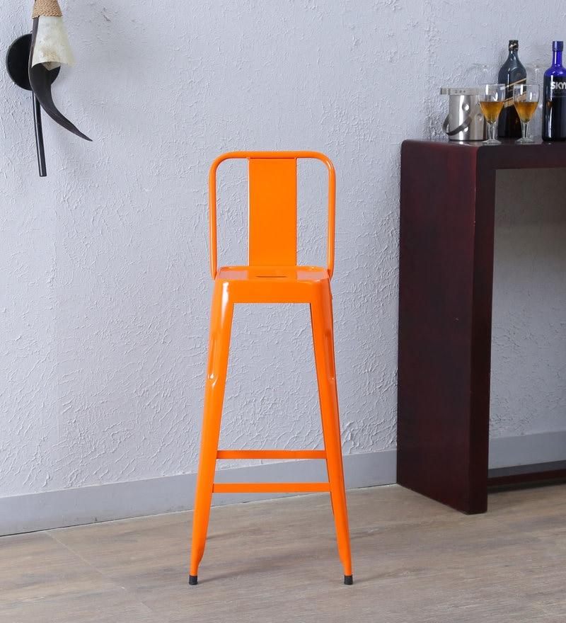 Raglan Bar Chair in Orange Colour by Bohemiana
