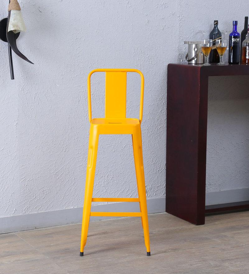 Raglan Bar Chair in Yellow Color by Bohemiana